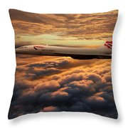 The Supersonic Concorde Throw Pillow
