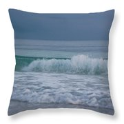 The Surf Rolls In At Holmes Beach Throw Pillow