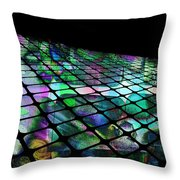 The Surface Of Color Throw Pillow