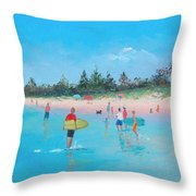 The Surfers Throw Pillow