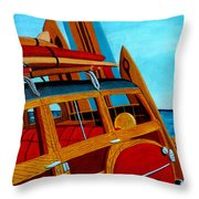 The Surfers Ride Throw Pillow