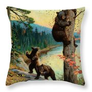 The Surprise Party Throw Pillow