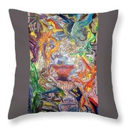The Surreal Caturday  Throw Pillow