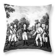 The Surrender Of General Burgoyne Throw Pillow