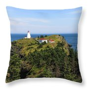 The Swallowtail Lightstation Throw Pillow