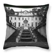 The Swan House Throw Pillow