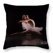 The Swan  Throw Pillow by Rosario Piazza