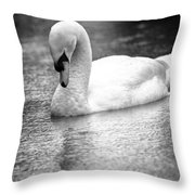 The Swans Solitude Throw Pillow