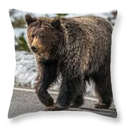 The Sweet Chocolate Lady Throw Pillow