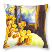 The Sweeter The Grapes Throw Pillow