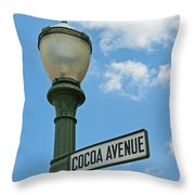 The Sweetest Street Corner In The World Throw Pillow