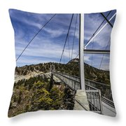 The Swinging Bridge Of Grandfather Mountain Throw Pillow