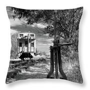 The Switch And The Caboose Throw Pillow