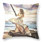 The Sword And The Bride Throw Pillow