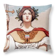 The Sword Is Drawn Throw Pillow