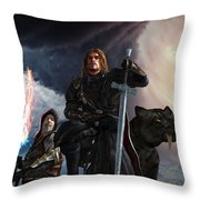 The Sword Of The South Throw Pillow