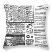 The Symbols Of The Latin Alphabet Throw Pillow