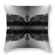 The Symmetry Of Light  Throw Pillow