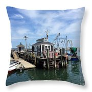 The Tackle Shack Throw Pillow