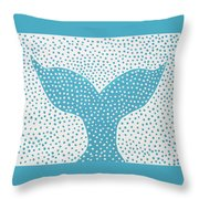 The Tail Of The Dotted Whale Throw Pillow by Deborah Boyd
