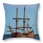 The Tall Ship El Galeon Throw Pillow