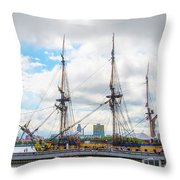 The Tall Ship Hermione - Philadelphia Pa Throw Pillow