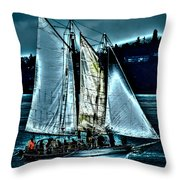 The Tall Ship Lavengro Throw Pillow