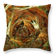 The Tangled Webs We Weave Throw Pillow