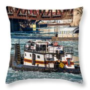 The Tanner On The Icy River Throw Pillow