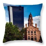The Tarrant County Courthouse Throw Pillow