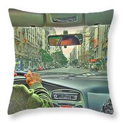 the Taxi Driver Throw Pillow
