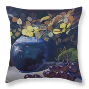 The Teal Vase Throw Pillow