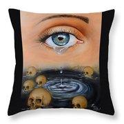 The Tear Throw Pillow