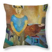 The Tears Of The Saints Throw Pillow