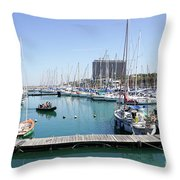 The Tel Aviv Marina  Throw Pillow