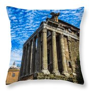 The Temple Of Antoninus And Faustina Throw Pillow