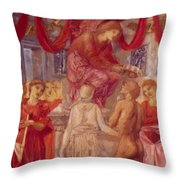 The Temple Of Love Throw Pillow