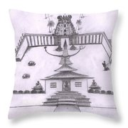 The Temple Of Religions Throw Pillow