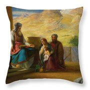 The Temple Of The Jews Throw Pillow