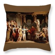 The Temple Of The Liberal Arts With The City Of Bern And Minerva Throw Pillow