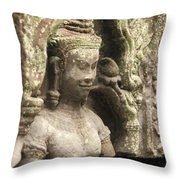 The Temples Of Angkor, Preah Khan Throw Pillow