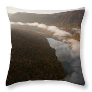 The Tennessee River Cuts Through Signal Throw Pillow