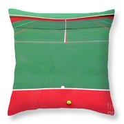 The Tennis Court Throw Pillow
