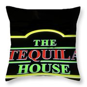 The Tequila House, New Orleans Throw Pillow