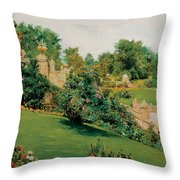 The Terrace Central Park New York Throw Pillow