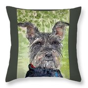 The Terrier Throw Pillow