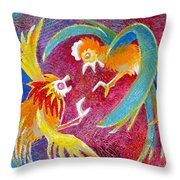 The Territorial Fight Throw Pillow