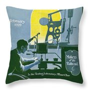 The Testing Laboratory Throw Pillow
