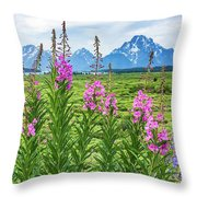 The Tetons Are Grand Throw Pillow