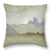 The Tetons, Idaho, 1879 Throw Pillow